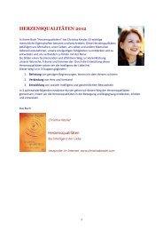HERZENSQUALITÄTEN 2012 - Lebens Energie in Harmonie