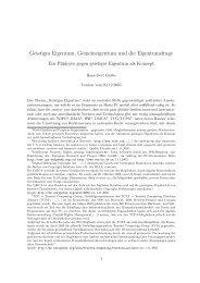 Geistiges Eigentum - Prof. Dr. Hans-Gert Gräbe
