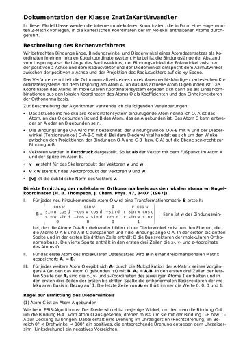 Klassendokumentation ZmatInKartUmwandler