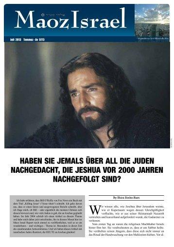 HABEN SIE JEMALS ÜBER ALL DIE JUDEN ... - Maoz Israel
