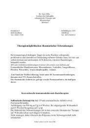Therapiemöglichkeiten rheumatologischer ... - Dr. Arno Zifko