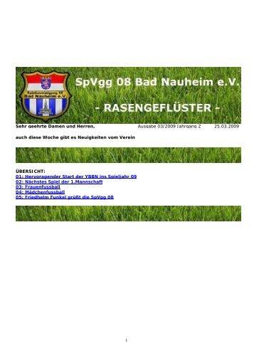 Rasengeflüster Ausgabe 03 / 2009 - Spielvereinigung 08 Bad ...