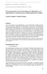 Parasitologische und immunologische Methoden zum Nachweis ...