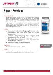 Produktinformationen Power Porridge - Sponser