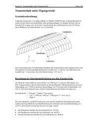 Tonnenschale unter Eigengewicht Systembeschreibung