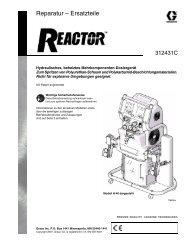 312431C Reactor, Hydraulic Proportioners, Repair-Parts, German