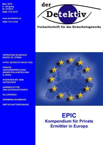 kompendium für private ermittler in europa - Der Detektiv