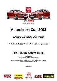Ausschreibung Autoslalom-Cup 2008
