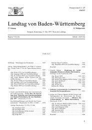 Landtag von Baden-Württemberg - Landtag Baden Württemberg