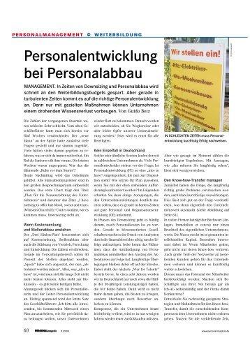Personalentwicklung bei Personalabbau - Kommunikations-Kolleg ...