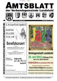 Amtsblatt Nr. 25/2012 vom 21.06.2012 - Verbandsgemeinde Landstuhl