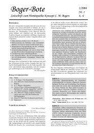 Boger-Bote - Organon - Schule für Klassische Homöopathie