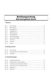 Benützungsordnung inkl. Gebührenordnung - Gemeinde Neuheim