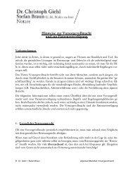 Merkblatt Vorsorgevollmacht (.pdf) - Notare Giehl und Braun Erlangen