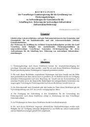 RICHTLINIEN der Vorarlberger Landesregierung für die Gewährung ...