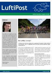 Editorial Der LuftiBus «on tour» - Lunge Zürich