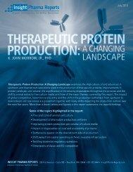 Therapeutic Protein Production - Cambridge Healthtech Institute