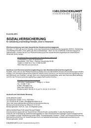 Sozialversicherung für Künstler_innen - IG Bildende Kunst