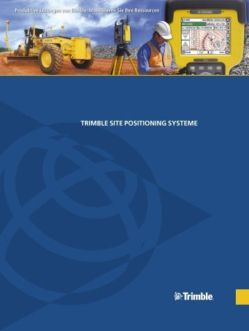TRIMBLE SITE POSITIONING SYSTEME - sitech
