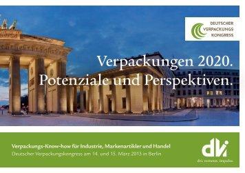 Programm 2013 - Deutscher Verpackungskongress
