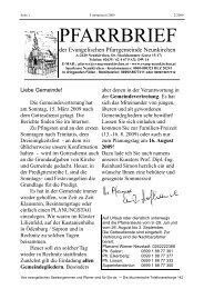 PFARRBRIEF - Evangelische Pfarrgemeinde Neunkirchen
