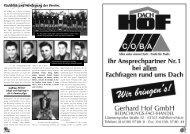 Rückblick und Werdegang des Vereins. - SPORT - CLUB 1907 eV ...