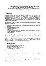 1. Erweiterung des Konzeptes der Luzin-Klinik