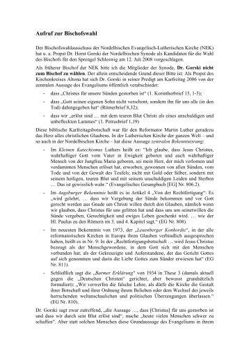 Aufruf zur Bischofswahl Wilckens 0861 - Ulrich Wilckens