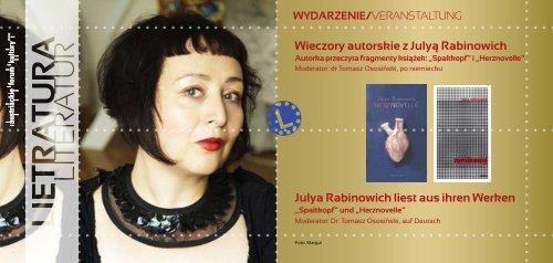 program Styczeń - Luty 2012 - Austriackie Forum Kultury