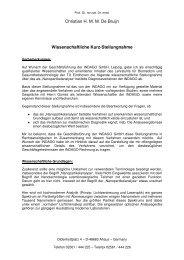Christian H. M. M. De Bruijn Wissenschaftliche Kurz ... - transgallaxys