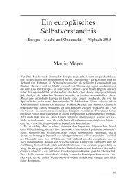 Ein europäisches Selbstverständnis - Vierteljahreszeitschrift für ...