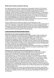 Mobiler Dienst Autismus-Spektrum-Störung - Schule an der ...