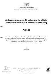 Anforderungen an Struktur und Inhalt der Dokumentation der ...