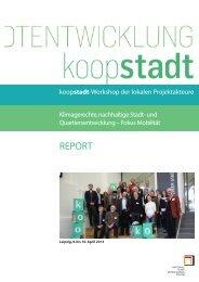 Report zum Projektfamilienworkshop - Koopstadt