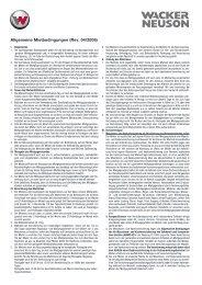 Allgemeine Mietbedingungen (Rev. 04/2008) - Wacker Neuson