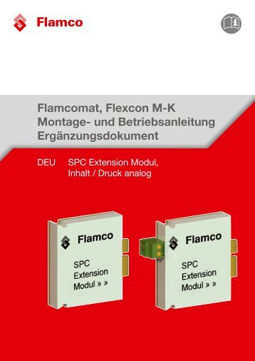 SPC Extension Modul, Inhalt / Druck analog - Flamco