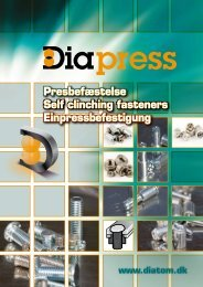 Presbefæstelse Self clinching fasteners ... - Diatom A/S