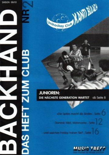 Backhand - Nr. 2 - Saison 00/01 - Bülach Floorball