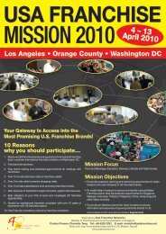 Mission Trip to U.S.A 2010 - Asia Franchise