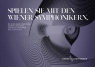 Sponsoringmappe zum Download - Wiener Symphoniker