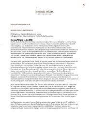 Michael Poliza Experiences - Launchmeldung ... - MP Experiences