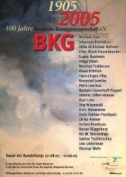 Chronik von 2005 - Bergische Kunstgenossenschaft