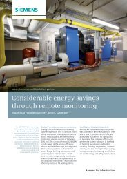 Considerable energy savings through remote monitoring - Siemens ...