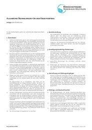Bed.kreditvertrag anlage2 01012011 - Bürgschaftsbank NRW