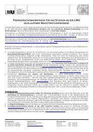 fremdsprachenkenntnisse für das studium an der lmu (auslaufende
