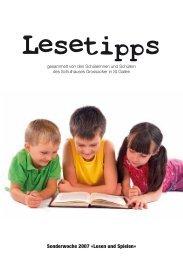 Layout Lesetipps - Schule Grossacker