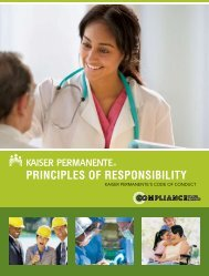Kaiser Permanente Principles of Responsibility - Broker support ...