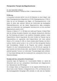 Perioperative Therapie des Magenkarzinoms