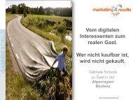 Handout zum Vortrag von Fr. Schulze - Urlaub in der Alpenregion ...