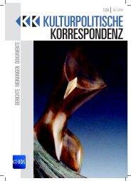 Ausgabe 1334 als PDF zum Download - Kulturportal West Ost